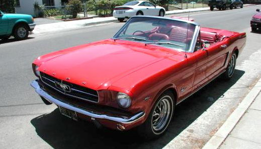 Red Mustang Convertible