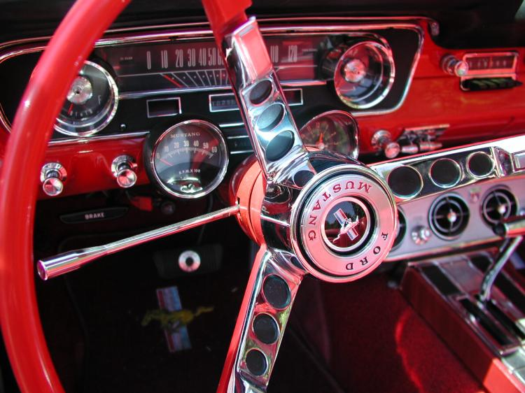 1964 ford mustang steering wheel  image