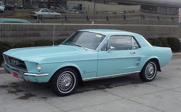1967 Mustang in Arcadian Blue