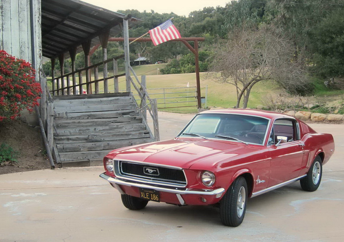 1968 Mustang Fastback Candyapple Red For Sale