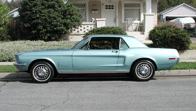 1968 Ford Mustang in Tahoe Turquiose